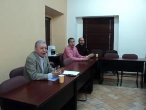 De izquierda a derecha: Ing. López Hernández, Ing. Molina Duarte y M.A. Flores Sánchez