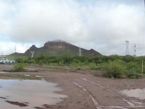 Pozos y cerro de Boca Abierta