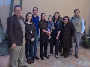 De izq. a der,: Nicolás Pineda, Daniella Yocupicio, Antonio Rodriguez, Rafael y Soraya De Grenade, Daniela Noreña, Flor Ibarra, Jaime De Grenade.