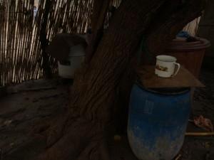 Contenedor donde se almacena agua para uso doméstico, Pótam.